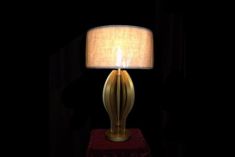 EME LIGHTING unique design western table lamps brass material for restaurant-1