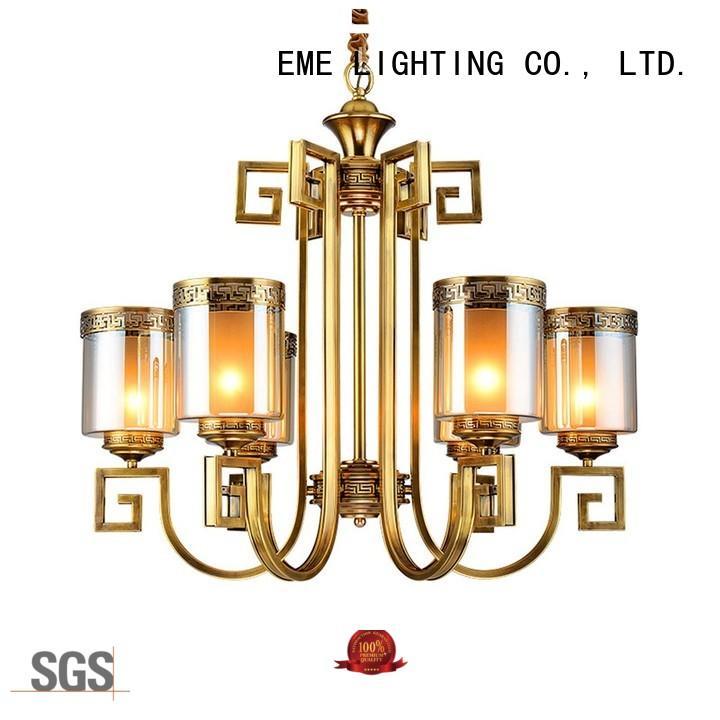 EME LIGHTING high-end antique brass 5 light chandelier European for big lobby