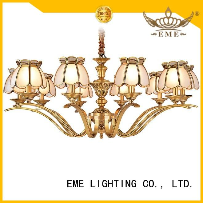EME LIGHTING luxury bronze crystal chandelier residential for home
