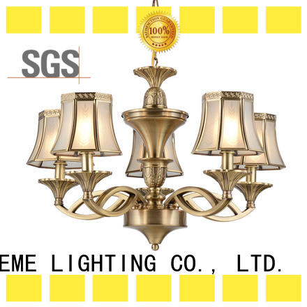 EME LIGHTING modern bronze crystal chandelier round for big lobby