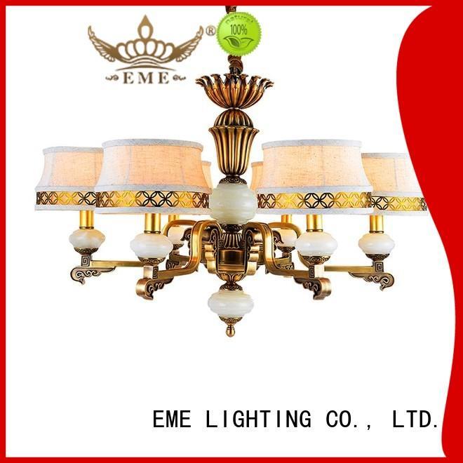 EME LIGHTING glass hanging modern brass chandelier vintage for home