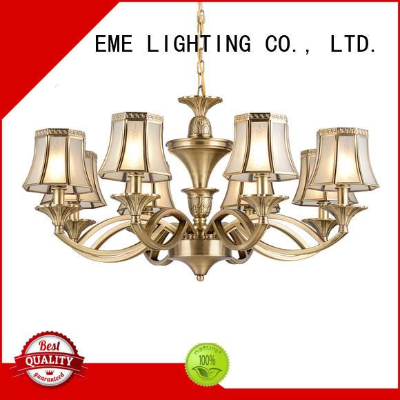 EME LIGHTING luxury modern brass chandelier unique for home