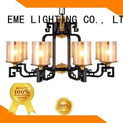 EME LIGHTING luxury 10 light brass chandelier glass hanging