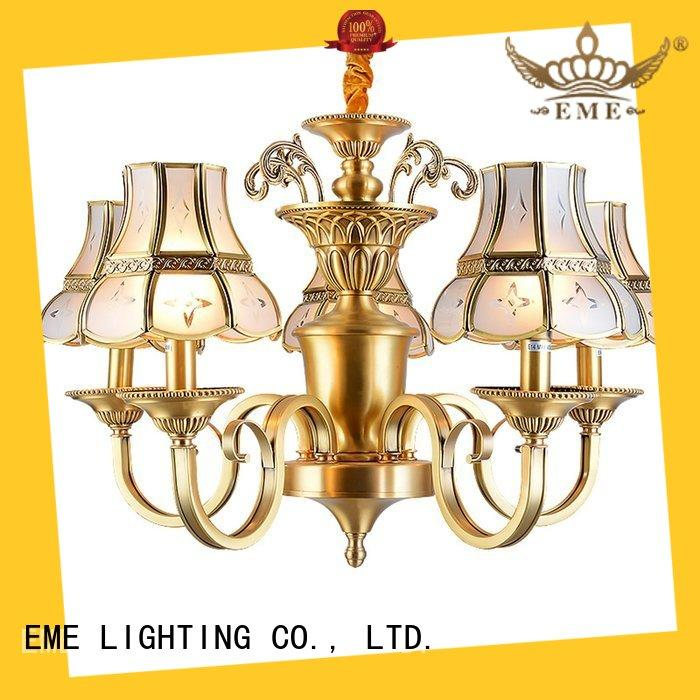 EME LIGHTING modern antique brass 5 light chandelier European for big lobby