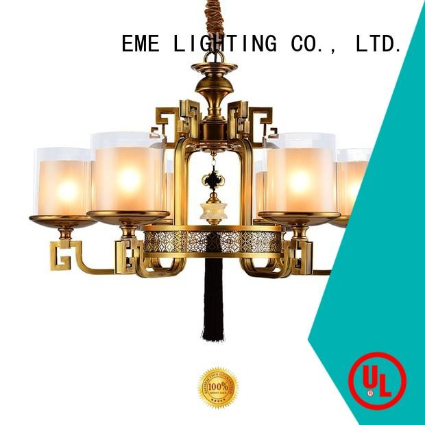 copper gold brass chandeliers glass hanging for dining room EME LIGHTING