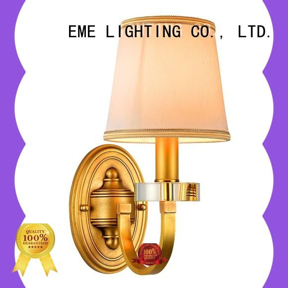 EME LIGHTING vintage gold wall sconces free sample for restaurant