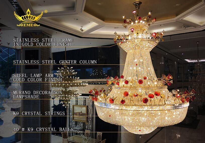 Large Chandeliers for Hotels, Crystal Chandelier Manufacturers, Hotel Lobby Chandeliers