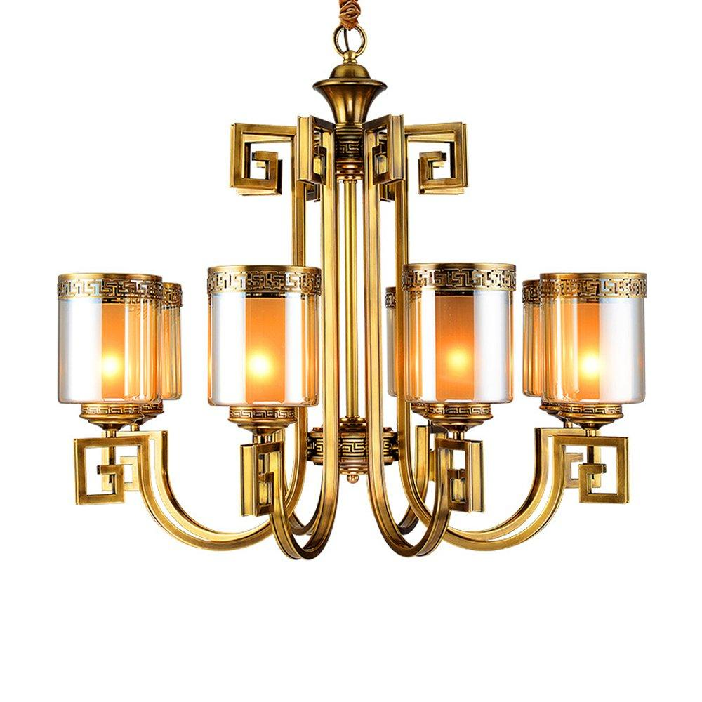 Greek Key Brass Chandeliers (EYD-14211-8)