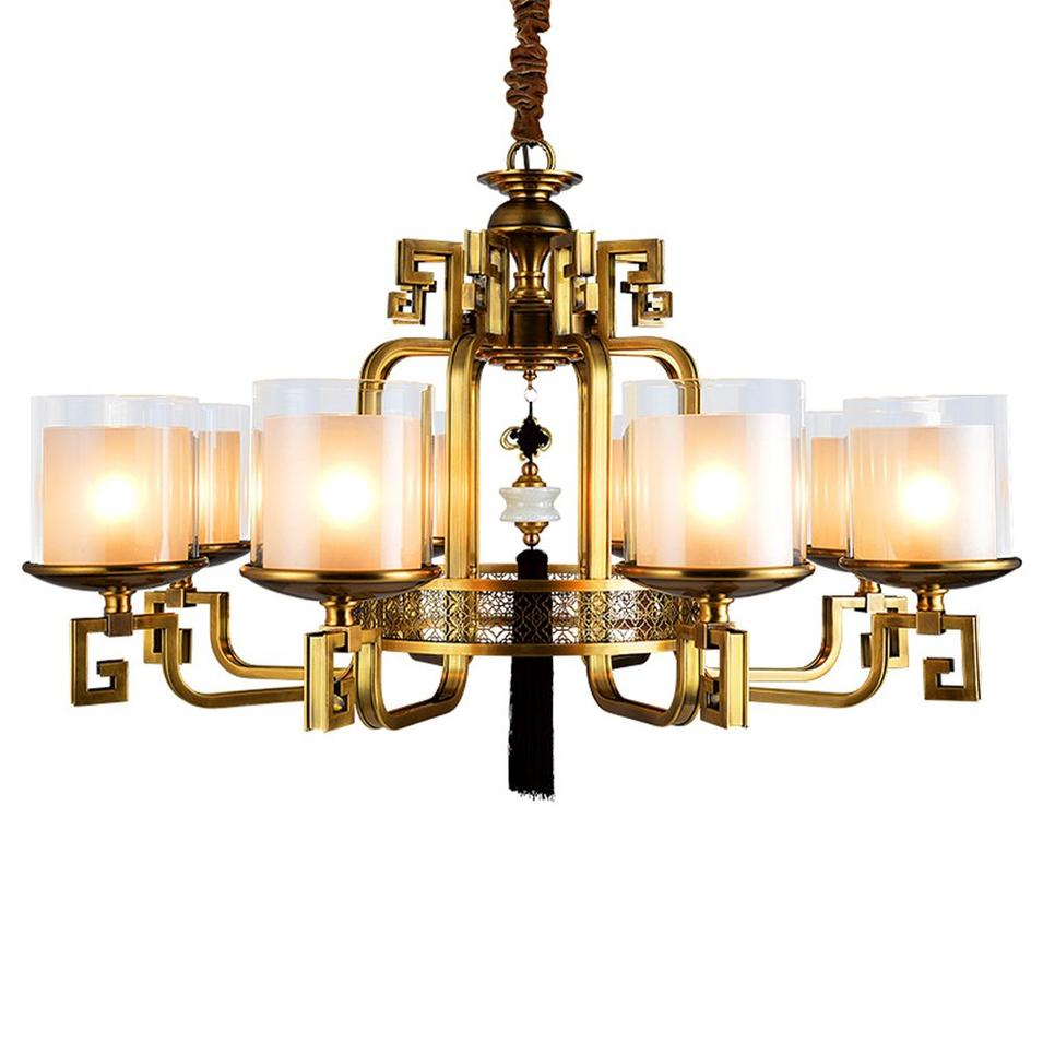 Living Room Chandelier With Glass Shades  (EYD-14210-8)