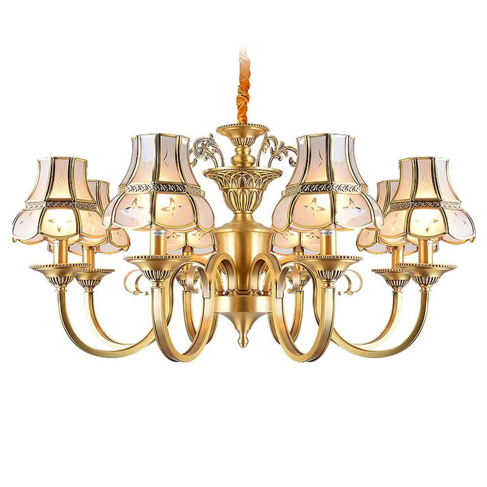 Traditional Antique Brass Chandeliers (EAD-14010-8)