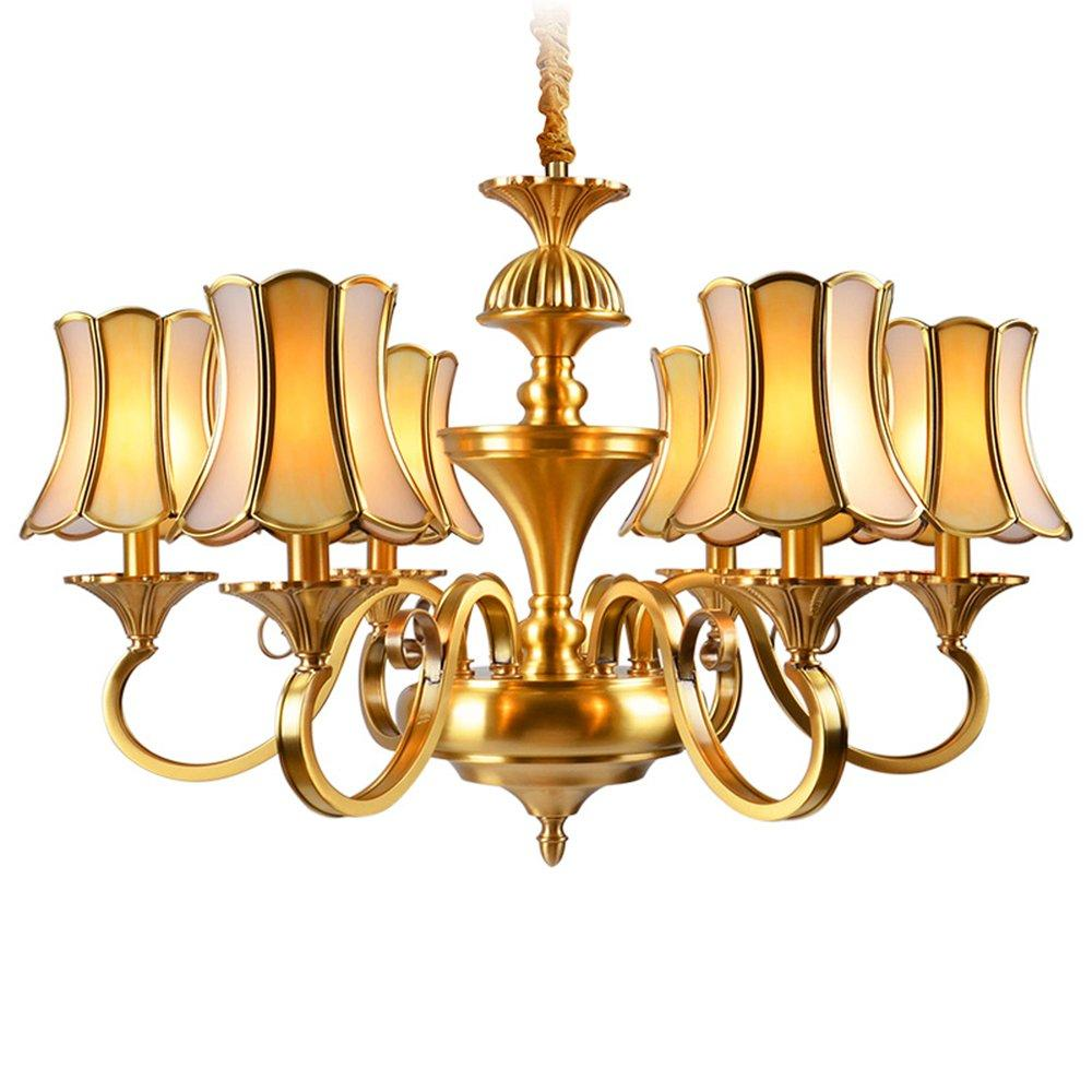 American Brass chandeliers With Lamp Shades (EAD-14009-6)