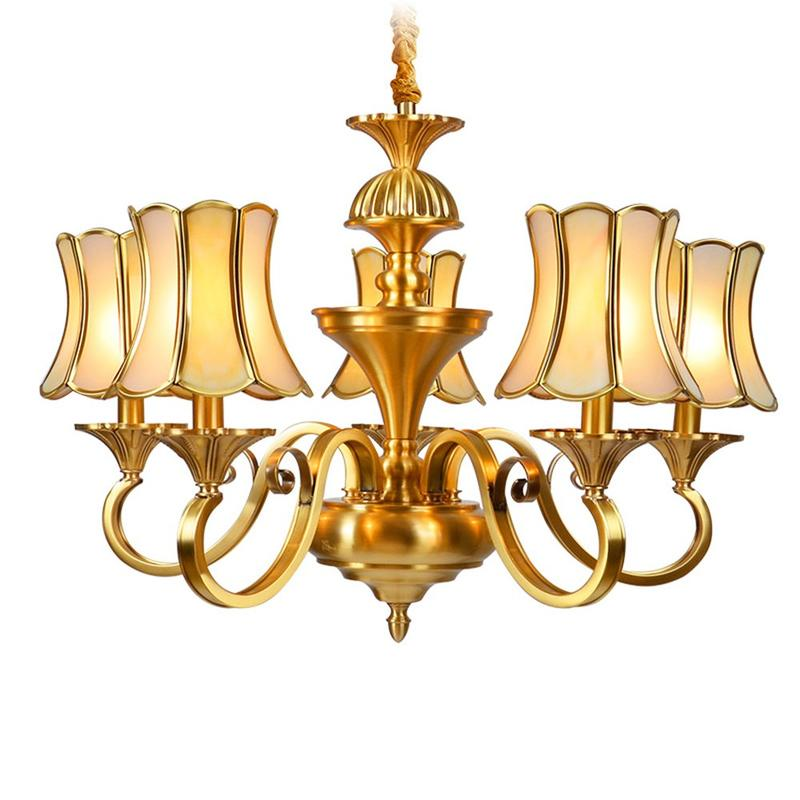 4 Lights American Brass Chandeliers  (EAD-14009-5)