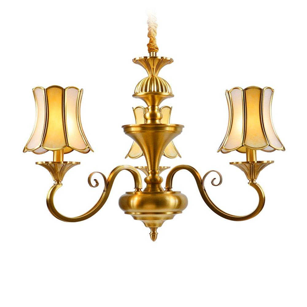 3 Light Brass Chandelier  (EAD-14009-3)