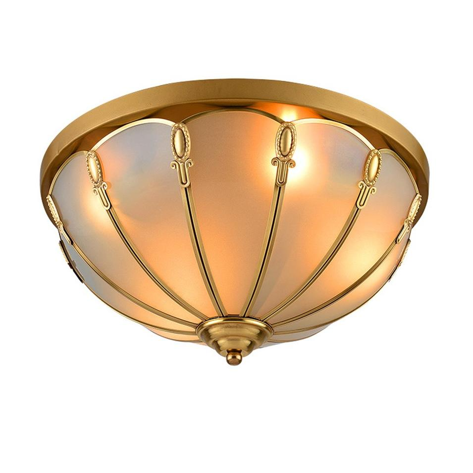 Circle Copper Ceiling Light (EOX-14109-350)