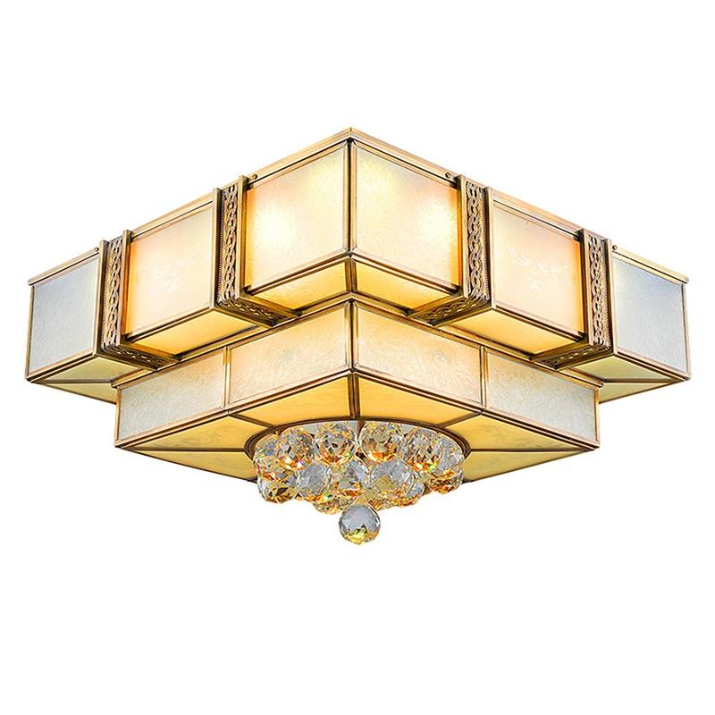 Square Copper Ceiling Light (EAX-14003-450)