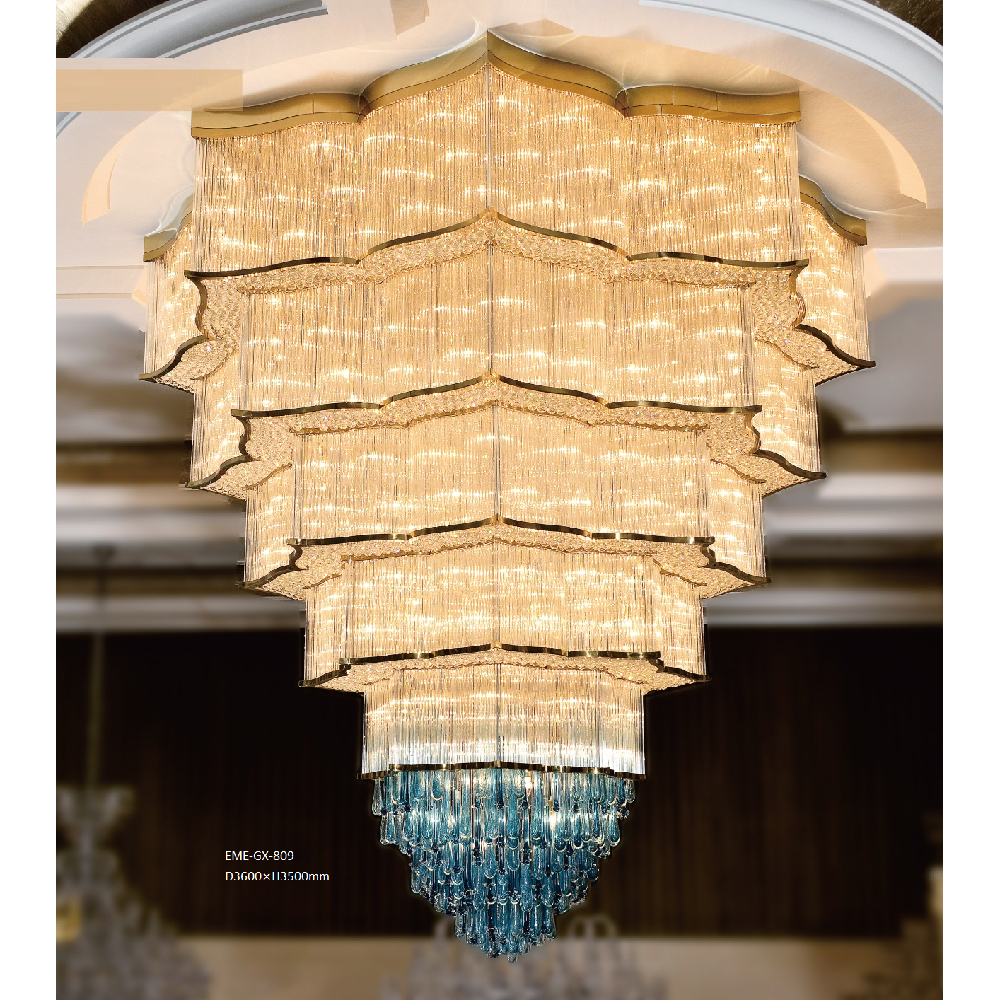 Crystal Glass Chandelier(GX-809)