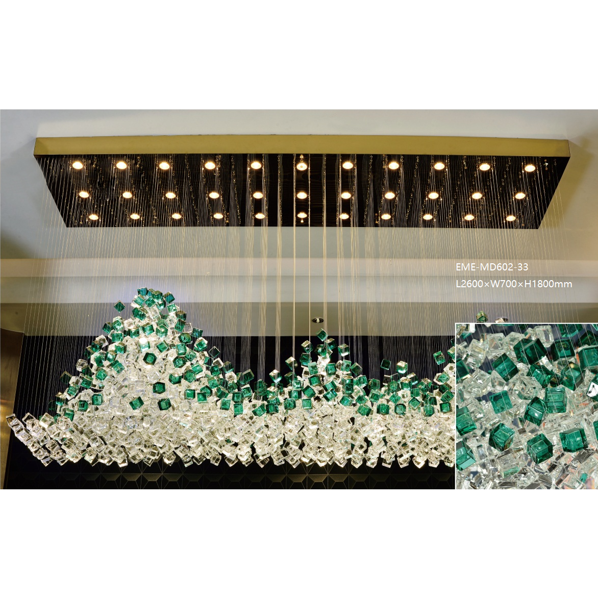 Modern Glass Chandelier(MD602-33)