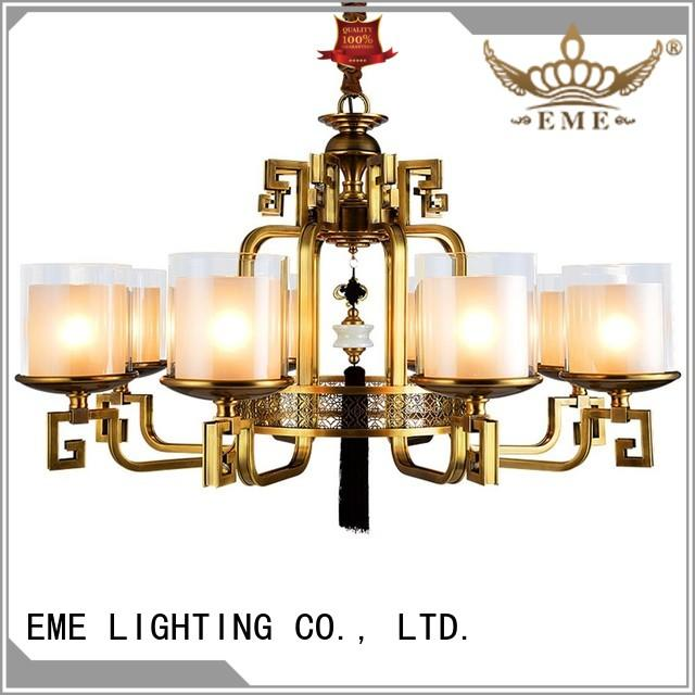 EME LIGHTING glass hanging chandelier manufacturers residential for big lobby