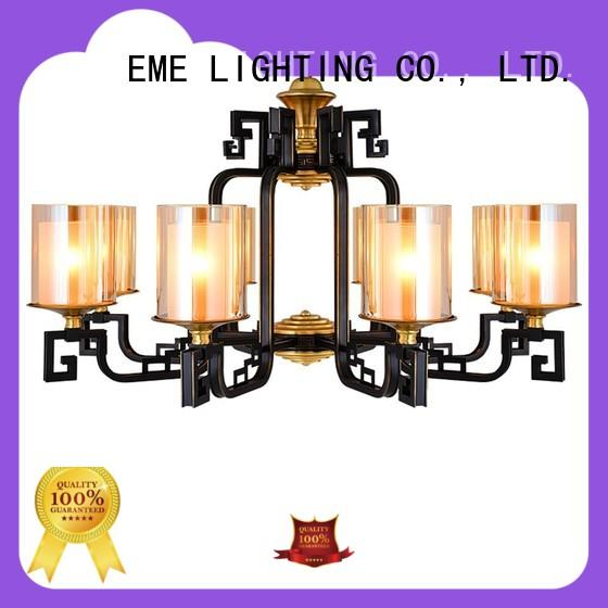 EME LIGHTING concise solid brass chandelier round