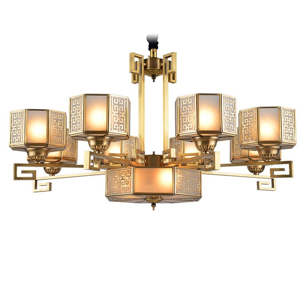 EME LIGHTING Copper Glass Chandelier (EAD-14002-8) Brass Chandelier image164