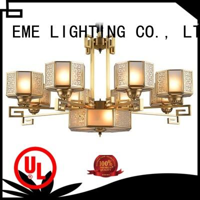 EME LIGHTING american style brushed brass chandelier residential for big lobby