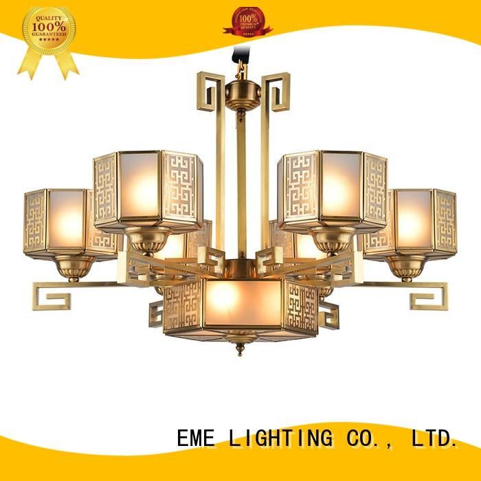 large solid brass chandelier vintage