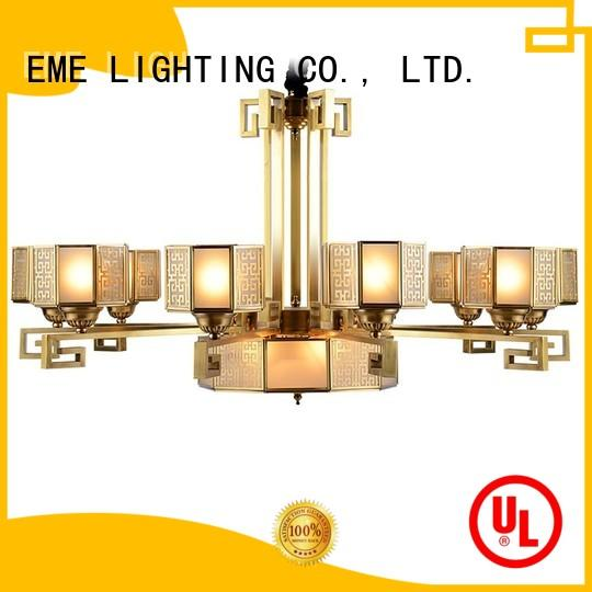 large home pendant OEM antique brass chandelier EME LIGHTING