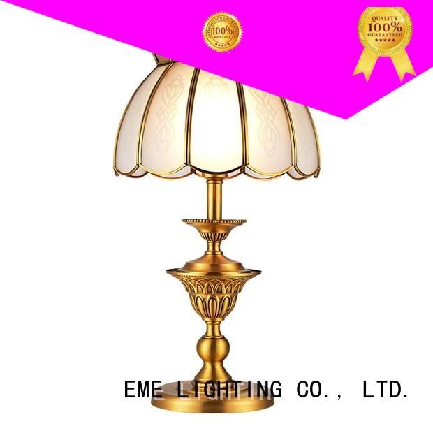 EME LIGHTING contemporary elegant table lamp brass material for study