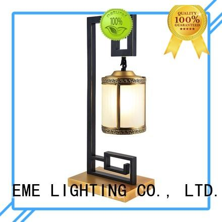 wood bedside chinese style table lamp antique gold EME LIGHTING Brand