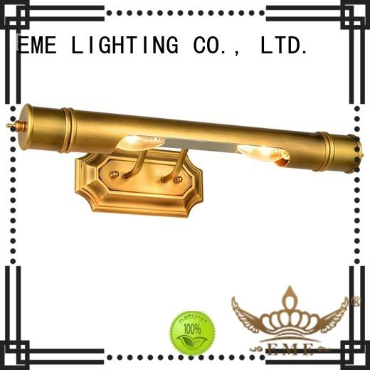 light lamp country brass EME LIGHTING Brand gold wall sconces supplier