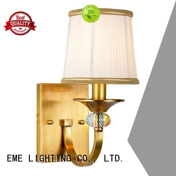 EME LIGHTING Brand front decorative shade gold wall sconces manufacture