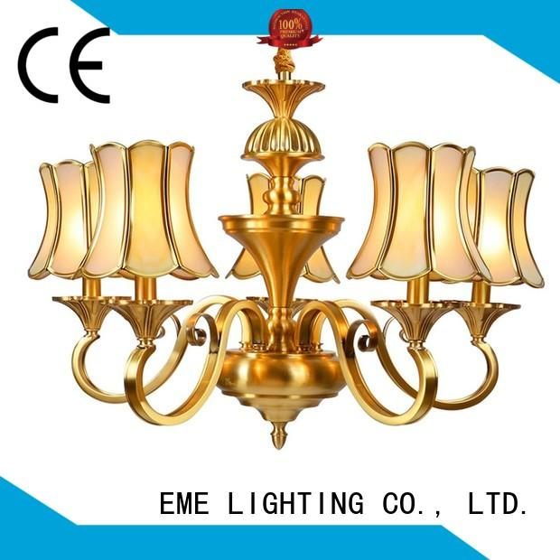 lobby highend hotel OEM antique brass chandelier EME LIGHTING