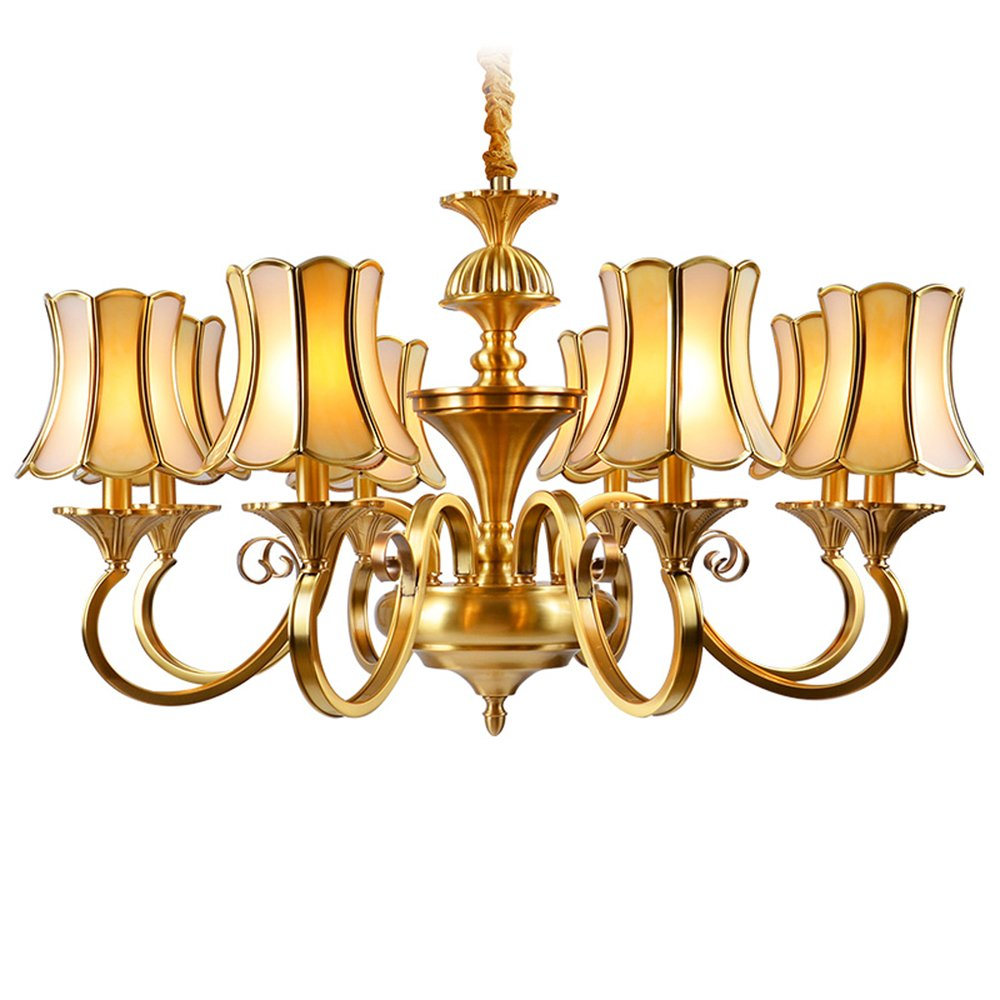 EME LIGHTING Decorative Chandeliers (EAD-14009-8) Brass Chandelier image112