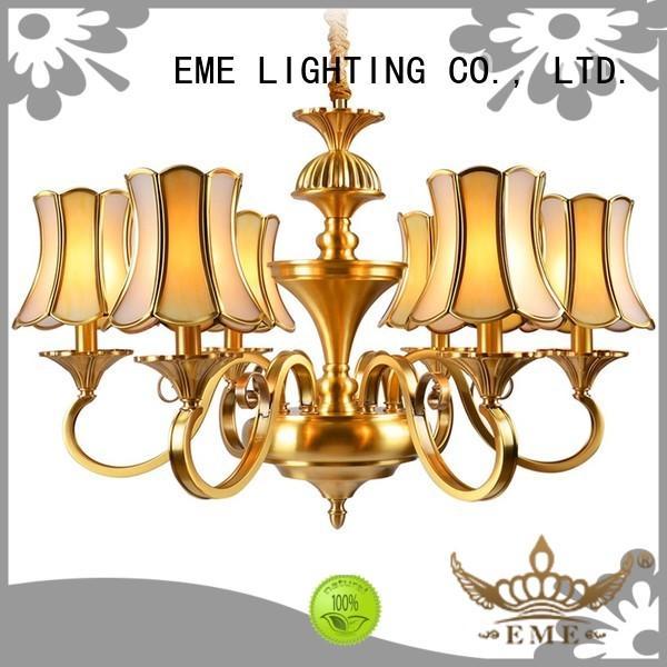Wholesale hotel dinging antique brass chandelier EME LIGHTING Brand