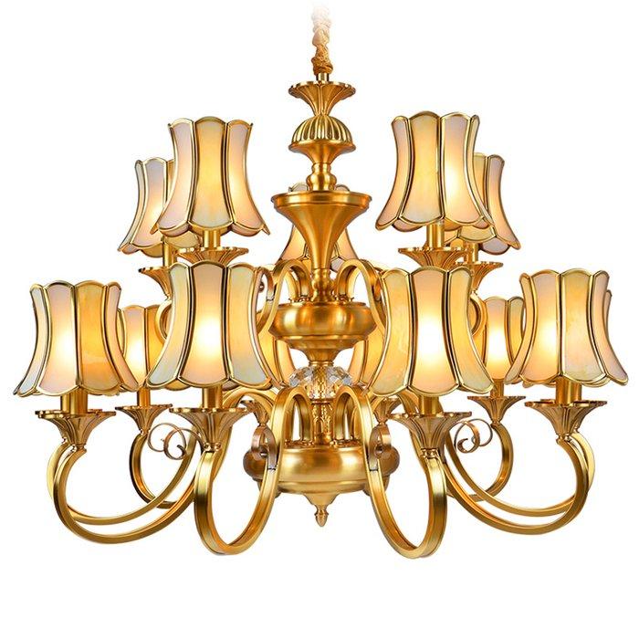 EME LIGHTING Luxury Chandeliers (EAD-14009-10+5) Brass Chandelier image110