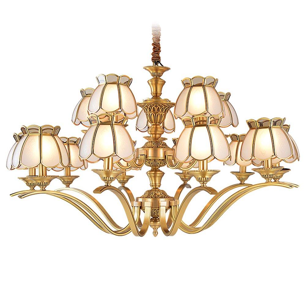 EME LIGHTING Large Chandeliers (EAD-14011-10+5) Brass Chandelier image99
