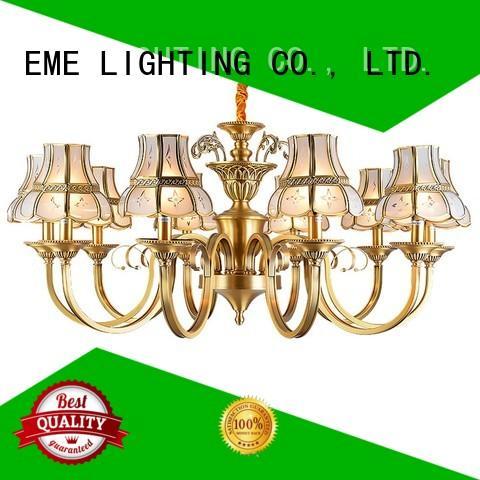 style big elegant EME LIGHTING Brand antique brass chandelier