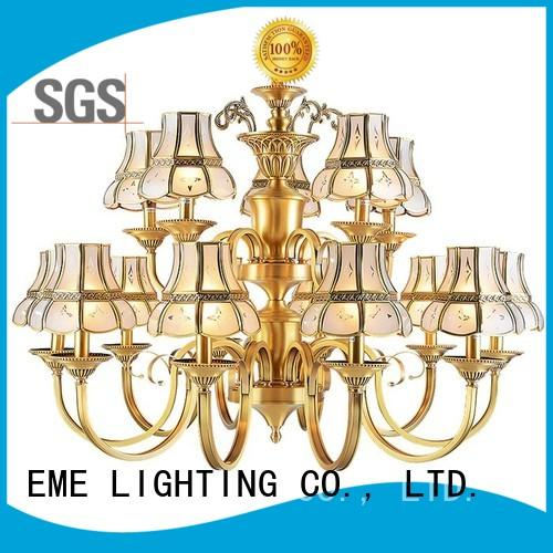 residential Custom style antique brass chandelier lights EME LIGHTING