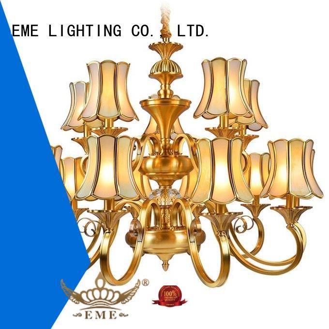 EME LIGHTING Brand moroccan antique brass chandelier round factory