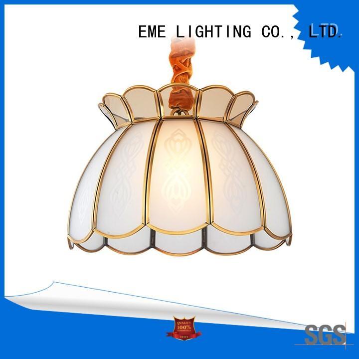Wholesale round lights antique brass chandelier EME LIGHTING Brand