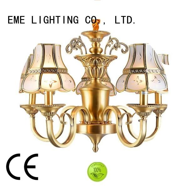 copper lights modern EME LIGHTING Brand decorative chandeliers factory