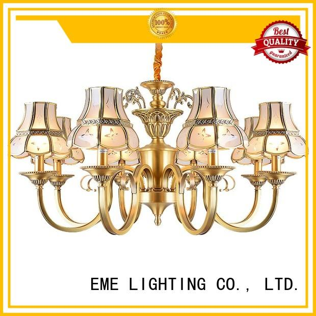 EME LIGHTING Brand style european luxury antique brass chandelier