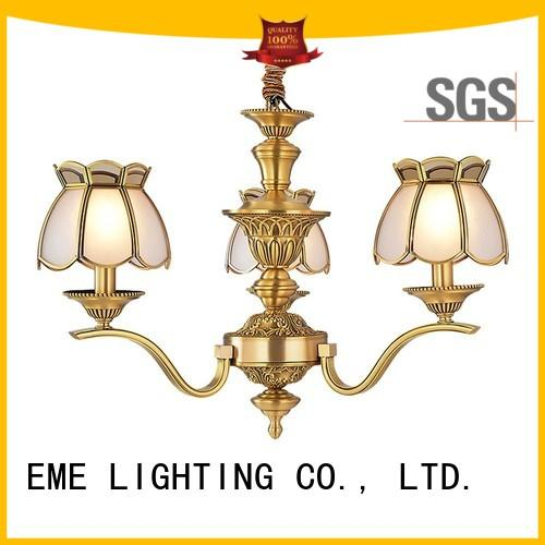 EME LIGHTING Brand concise antique brass chandelier murano factory