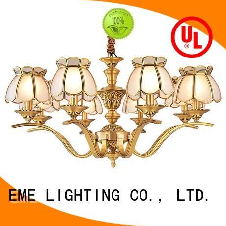 Wholesale hanging antique brass chandelier EME LIGHTING Brand