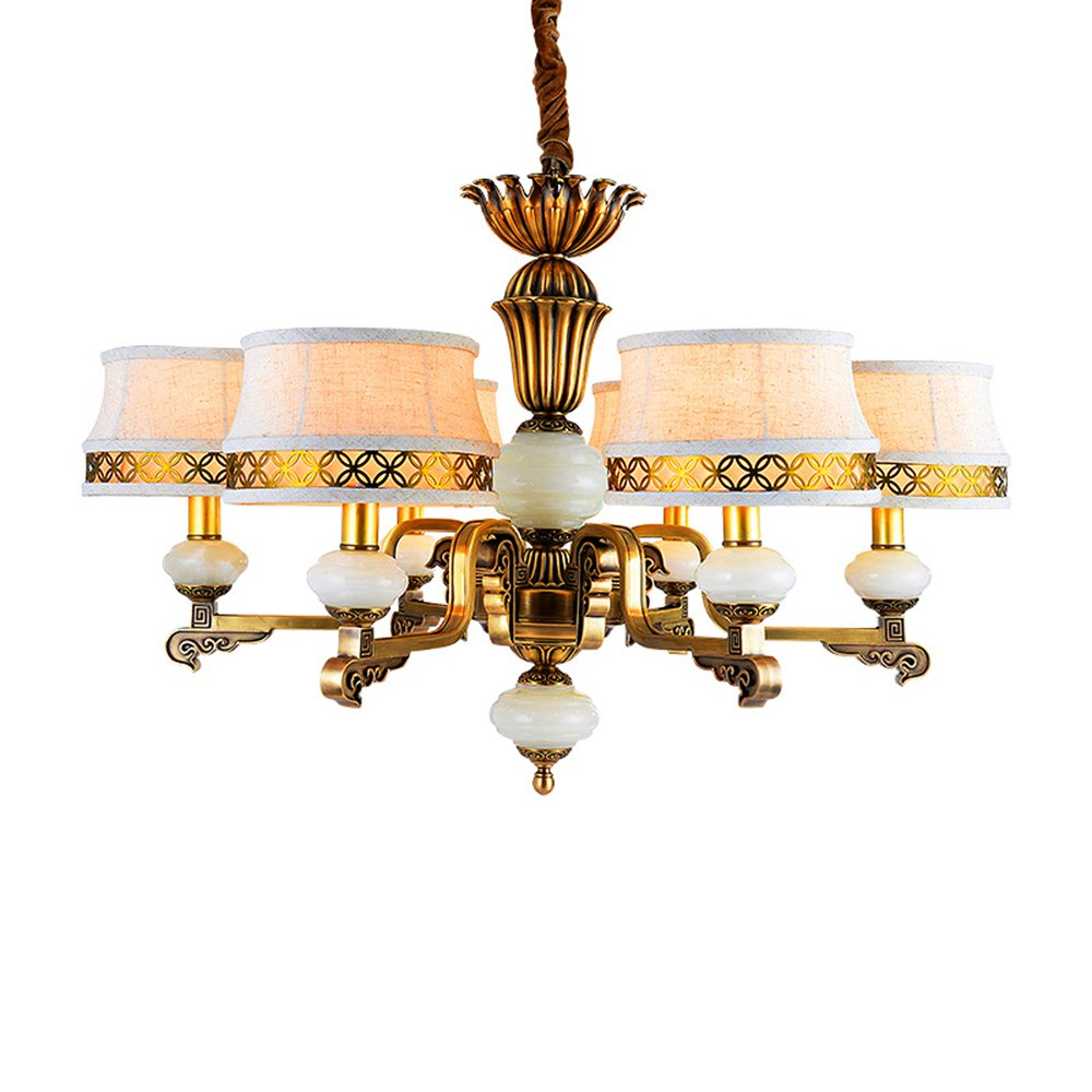 EME LIGHTING Antique Brass Chandelier (EYD-14212-6) Brass Chandelier image76