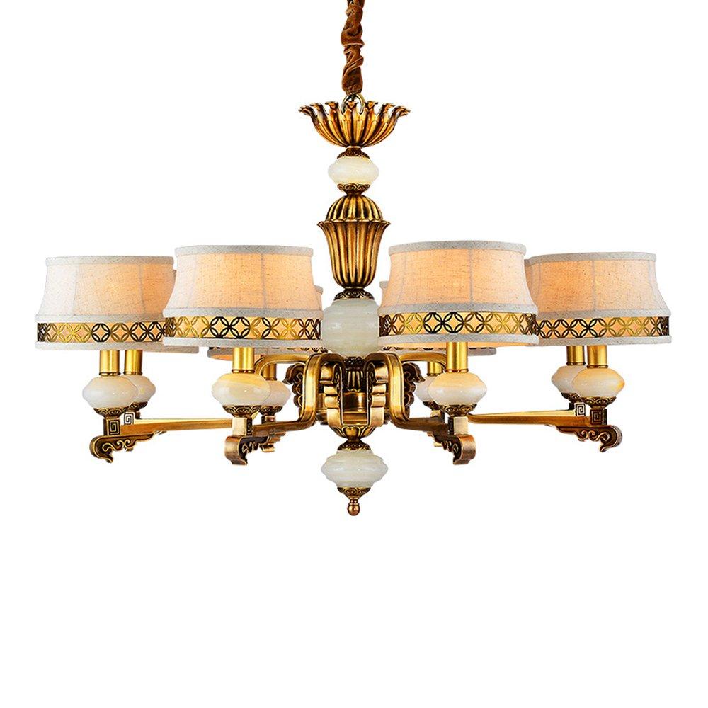 EME LIGHTING Tiffany Style Chandelier (EYD-14212-8) Brass Chandelier image75