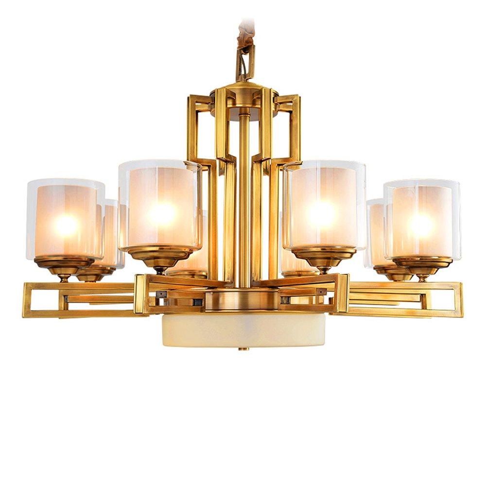 EME LIGHTING Glass Chandelier (EYD-14215-8) Brass Chandelier image69