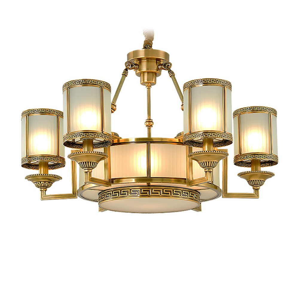 EME LIGHTING Round Glass Chandelier (EYD-14222-6) Brass Chandelier image64