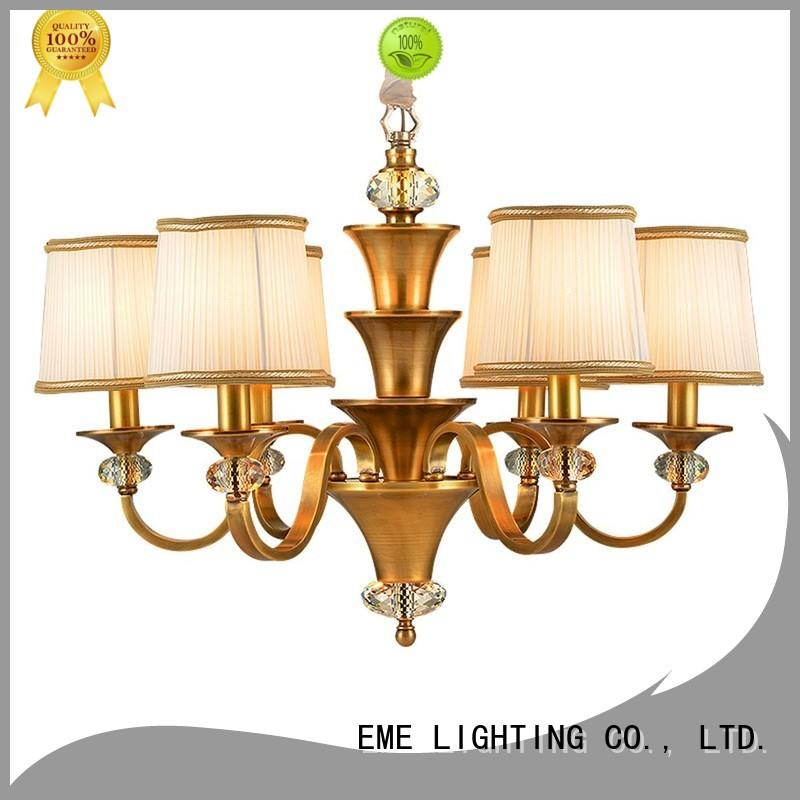 brass Custom vintage antique brass chandelier murano EME LIGHTING