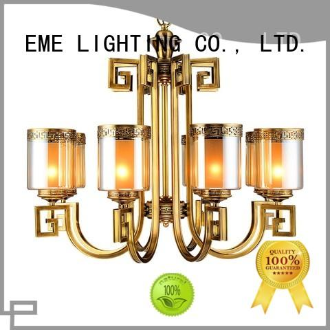 home lighting round EME LIGHTING Brand antique brass chandelier